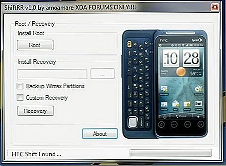 HTC EVO Shift 4G上的Root並安裝恢復[One-Click Root]