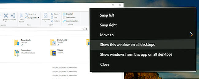 Sådan Pin et App Window til alle virtuelle stationære computere i Windows 10