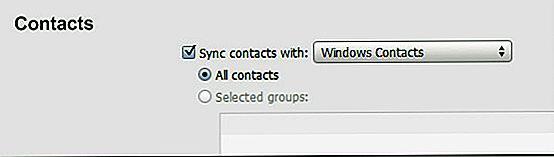 Importar contactos de iPhone a Gmail a través de Windows 7